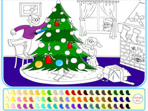 Christmas Coloring Game