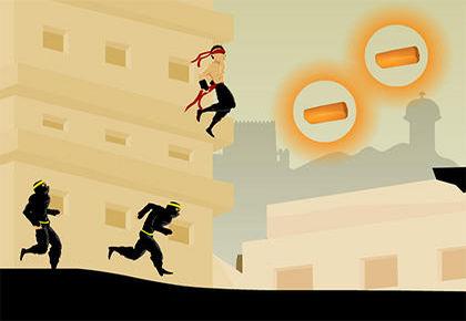 run ninja run 3 unexpected road 6000jeux. Black Bedroom Furniture Sets. Home Design Ideas